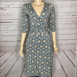Ann Taylor wraparound midi dress size 10